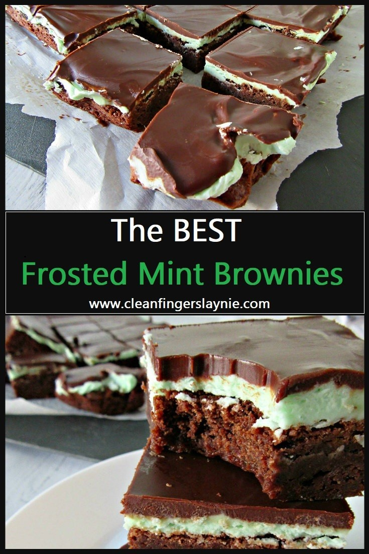 Best Frosted Mint Brownies - CleanFingersLaynie